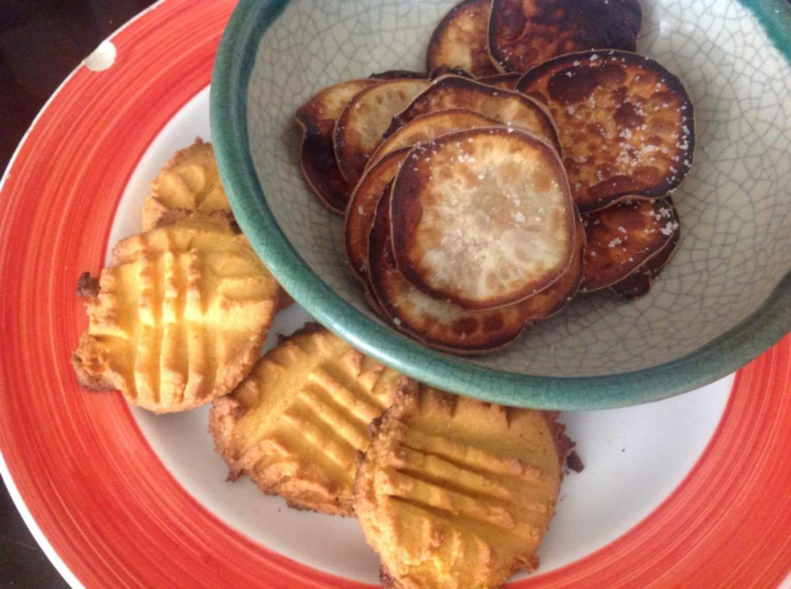Yam Cookies and chips