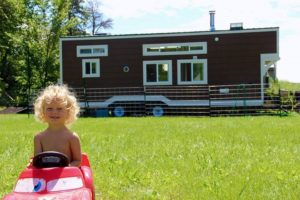 tiny house and child